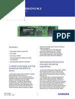 Samsung SSD 850 EVO M2 Data Sheet Rev2