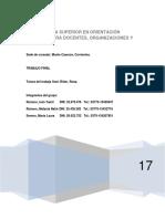 DIPLOMATURA SUPERIOR EN ORIENTACIÓN PRÁCTICA PARA DOCENTES, ORGANIZACIONES Y CONTEXTOS. TRABAJO FINAL