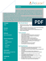 ProductNote Certificate in Business Analytics