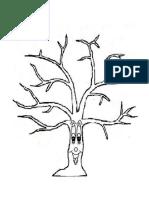 Copacul înflorit-lipire