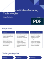 Open Science & Manufacturing Technologies