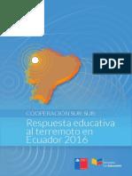 Cooperación Sur-Sur. Respuesta Educativa Al Terremoto en Ecuador 2016[1]