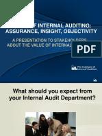 Value of Internal Auditing