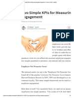 Two Simple KPIs for Measuring Employee Engagement
