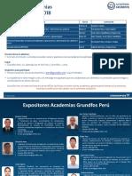 Programa de Academias 2018 Grundfos Perú 1er Semestre