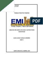 Practico 2 Puentes Lineas de Influencia Aplicadas a Estructuras Isostaticas