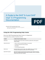 Guide to SAS 9.4 & SAS Viya 3.3 Programming Documentation