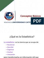 1.1 Conceptos Básicos de Estadística Descriptiva