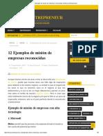 12 Ejemplos de Misión de Empresas Reconocidas _ El Nuevo Entrepreneur