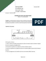 Examen Bases Calcul Structure 2018