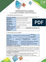 Guía de actividades y rúbrica de evaluación - Etapa 2 - Planificación