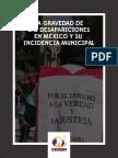 La gravedad de las desapariciones en México y su incidencia municipal