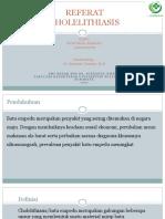 Referat cholelithiasis presentasi