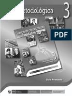 Campo de Conocimiento, Humanidades. Guía Para El Docente 3, Ciclo Avanzado