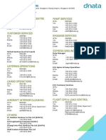 Dnata Singapore 24-Hours Operational Units (Updated 6 Nov 2015)
