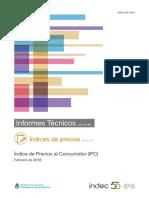 IPC Indec febrero 2018