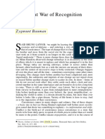 Bauman, Zygmunt - War Of Recognition.pdf