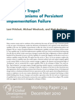 Pritchett, Lant - Capability Traps. the Mechanisms of Persistent Implementation Failure - Working Paper 234