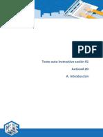 1. Texto Autoinstructivo Autocad Sesion 01 Introduccion