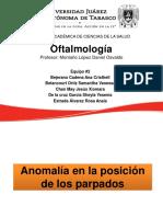 Anomalía en La Posición de Los Parpados TEMA EXPOSICION OFTALMOLOGIA