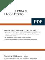 Normas Para El Laboratorio