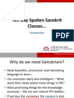 Sanskrit Language -1 Day-01-April-29-2016