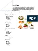 Alimentos formadores