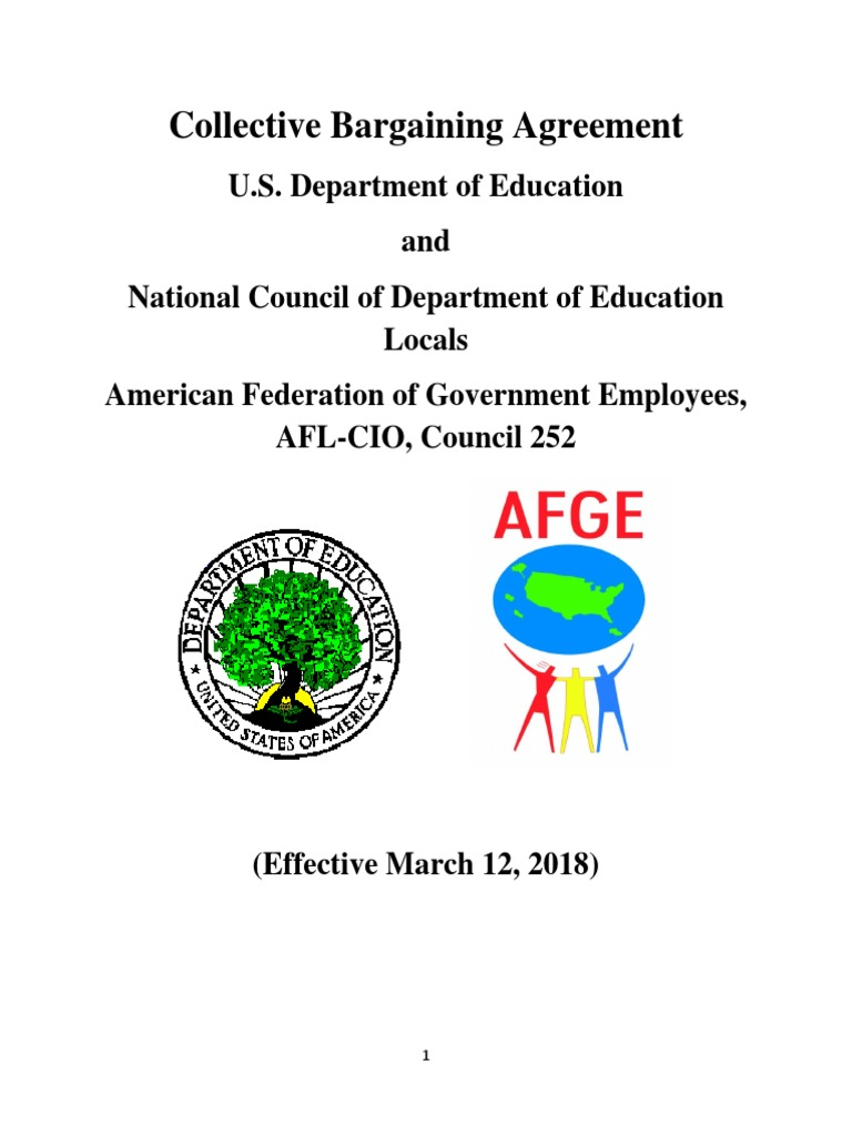 Collective Bargaining Agreement: Education Department and