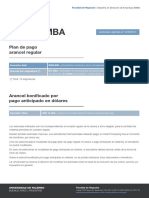 Aranceles MBA Asignatura