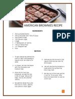 Receta de Brownies Magicos