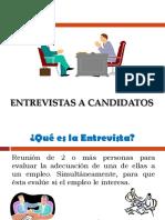 Entrevistas a Candidatos