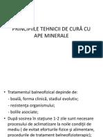 Principiile Tehnicii de Cură Cu Ape Minerale