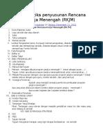 Sistematika penyusunan Rencana Kerja Menengah.doc