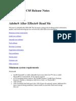 Adobe After Effects CS5 Readme