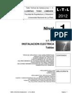 L+T+L (2012) INSTALACION ELECTRICA - Tablas -  N1