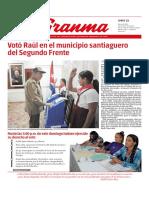 Diario Granma Lunes 12 de marzo de 2018