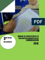 Manual de corrección evaluación diagnóstica  COM - 3°.docx