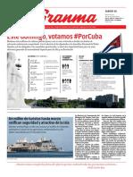 Granma Diario. Sabado 10 de marzo de 2018.