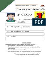 EVALUACIÓN DE RECUPERACIÓN 2°