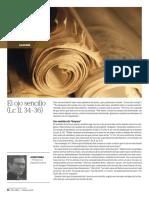 "Josep Boira, ""El ojo sencillo"", Palabra Febrero 2018, 661, pp. 52-53"