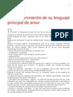 Cap. 09. El Descubrimiento de Su Lenguaje Principal de Amor
