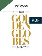 Globes Ballot