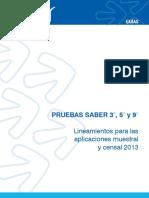 Guia de Lineamientos Para Las Aplicaciones Muestral y Censal - Saber 359 2013