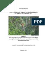 Narrative Report CIFOR Supporting Local Regulation in East Kalimantan v02