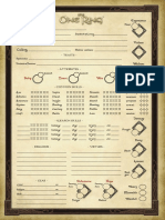 The One Ring - Character Sheet