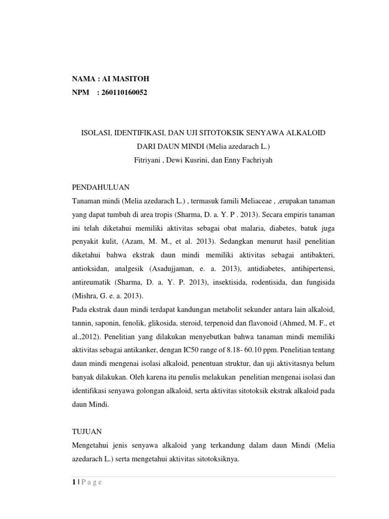 Resume Jurnal Fitokimia Ai Masitoh 260110160052