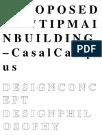 A p r o p o s e d New Tip Main Building