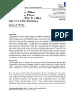 Wedel Studies of Elite in Siglo XXI