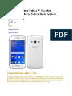 HP Samsung Galaxy v Plus Dan Spesifikasi