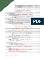 Table for Medical Equipment Plan -Outline[1]